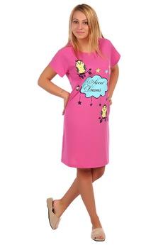 Розовая футболка-сорочка ElenaTex со скидкой